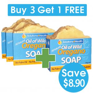 3 Plus 1 Bundle – 4x Oil of Wild Oregano Soaps (save $8.90)